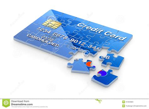 Concept Of Future Credit Card by 3d Concept With Credit Card Puzzle Stock Images Image