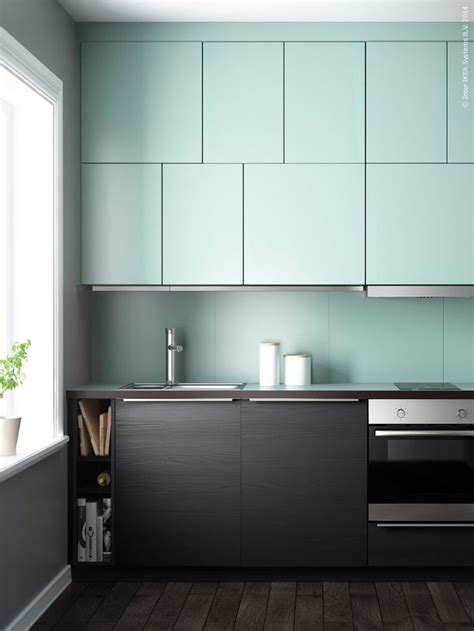 Ikea Modern Kitchen Kitchen Ideas Pinterest Mint Ikea Kitchen Cabinets