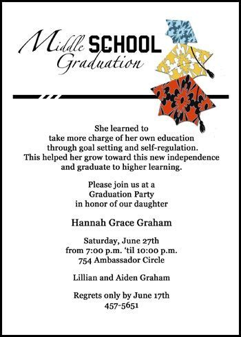 41 Best Images About 8th Grade Middle School Junior High Graduation Cards On Pinterest Middle School Graduation Program Template