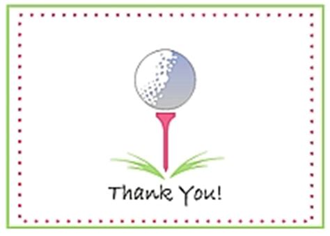 Golf Thank You Card Template by Golf Notecards And Stationery On Golf World