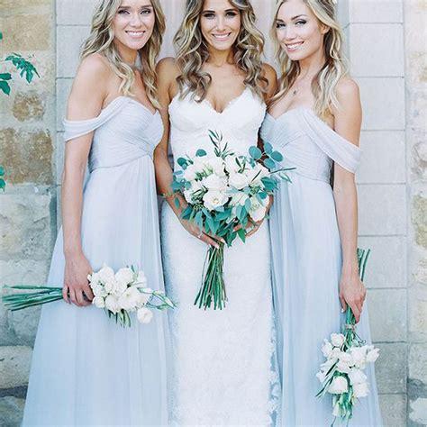 light bridesmaid dresses light blue chiffon a line bridesmaid dresses style