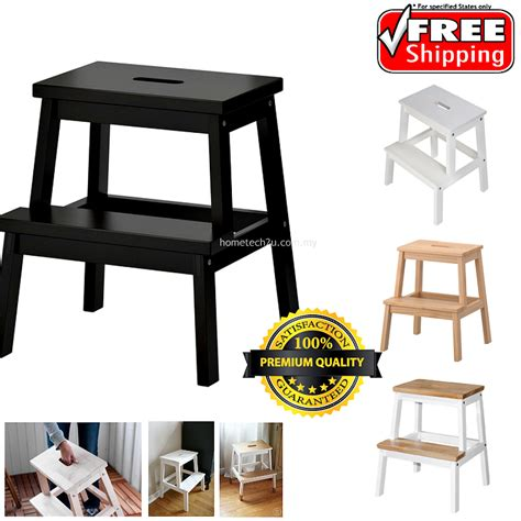 Wooden Step Stool Chair by Wooden Step Stool Chair 2 Steps White Lazada Malaysia