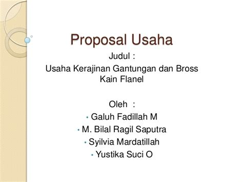 contoh proposal usaha