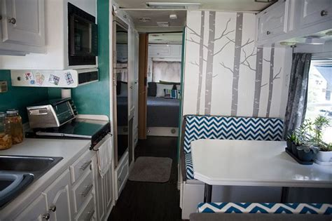 the rv remodel rv motorhome interior remodel bus pinterest trees