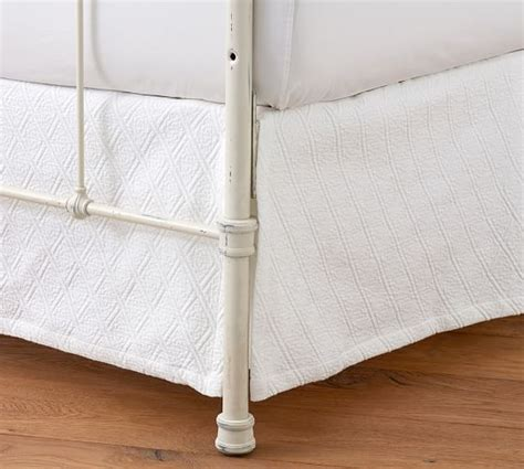 how to put on a bed skirt reeve matelasse organic daybed bed skirt pottery barn