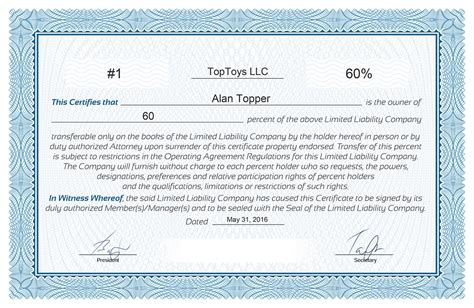 Llc certificate template free resume pdf download llc certificate template free yelopaper Gallery