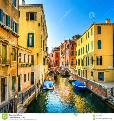 boat building europe venice cityscape buildings boats water canal and double