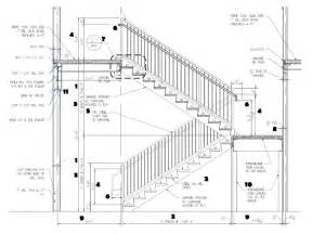 handrail section stair dwg images h ref