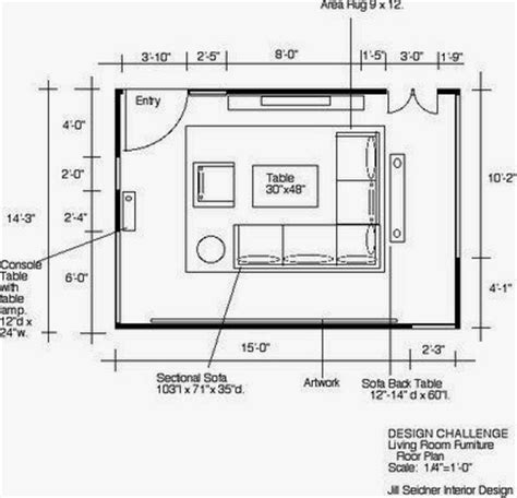 plan of living room with furniture engr1304 creating architectual blueprints