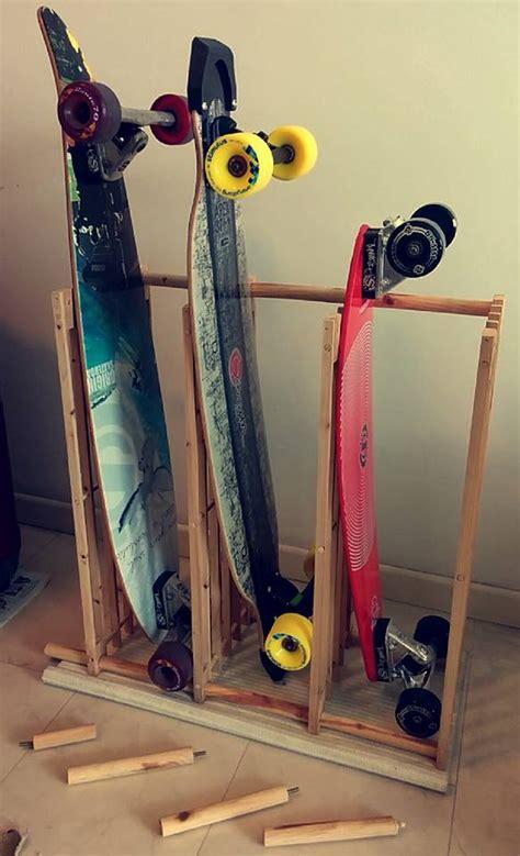 the 163 6 skateboard longboard rack ikea hackers ikea