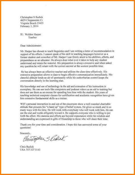 teacher letter of reference expin franklinfire co
