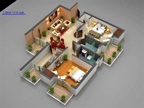 Floor Plan For Two Bedroom House by Ghar360 Home Design Ideas Photos And Floor Plans
