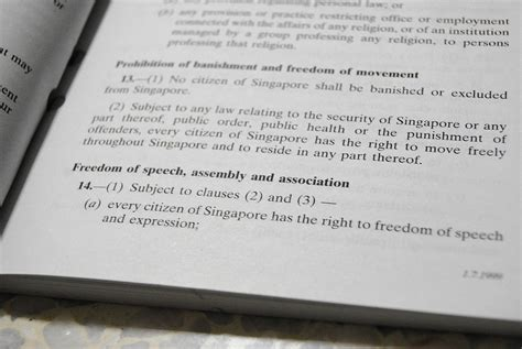 section 14 of the constitution article 14 of the constitution of singapore wikipedia