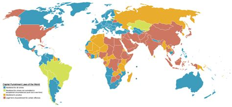 Countries that have abandoned the use of capital punishment   the death penalty