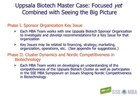 Chemical Companies That Sponsor Mba by Uppsala Biotech Master Overview