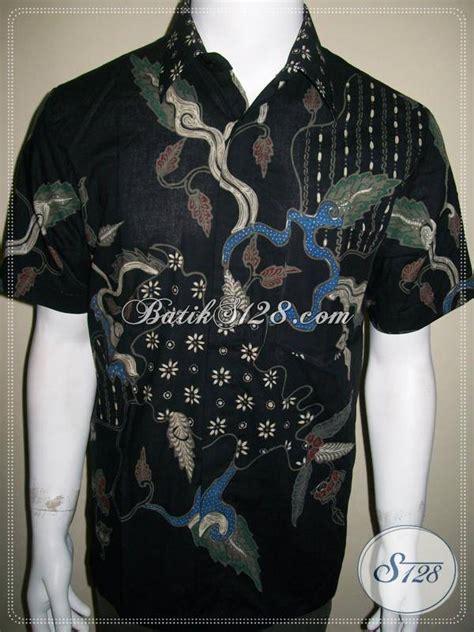 Kemeja Batik Prada Mewah Elegan Simple kemeja batik tulis simple sederhana warna hitam elegan dan modern ld349t m toko batik