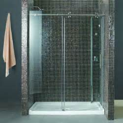 shower 10 mm tempered glass reversible door tub