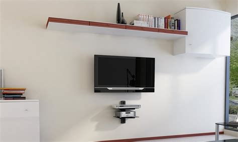 Tv Component Shelf by Argom Tv Wall Mount Component Shelves Groupon