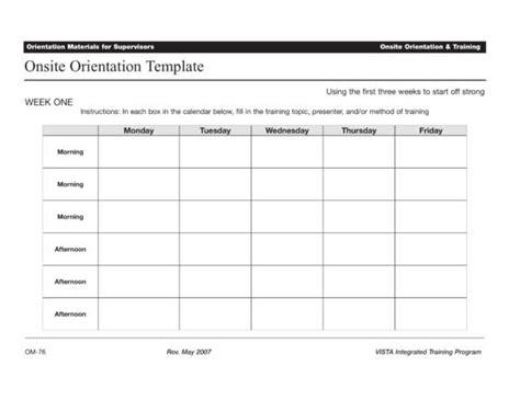 10 Orientation Schedule Sles Templates Pdf Word Sle Templates Orientation Calendar Template