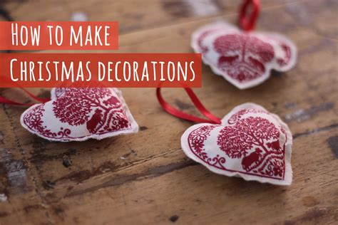 make at home christmas decorations how to make fabric christmas decorations youtube