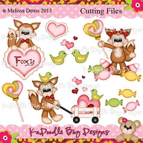 ka doodlebug designs a foxy 1 00 kadoodle bug designs cut