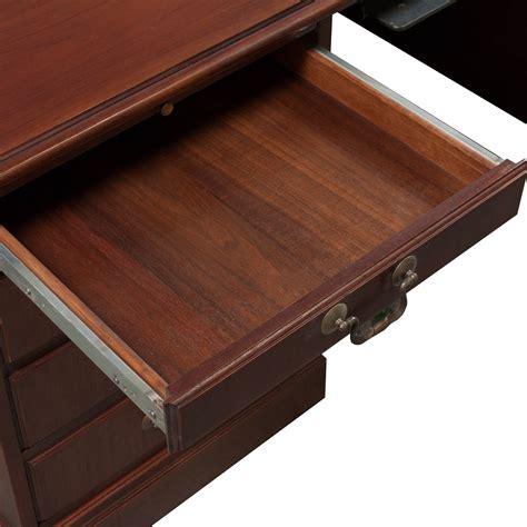 Veneer Desk by Traditional Veneer Used 36 215 72 Pedestal Desk Cherry