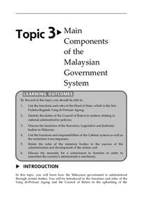 topic 3 components of the malaysian government system