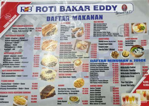 diperbarui menu roti bakar eddy pasar minggu