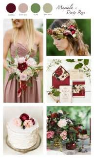 colors for wedding marsala wine wedding palette color combo marsala