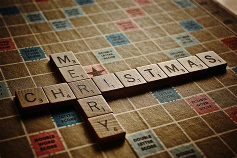 yule scrabble scrabble merry photograph by bill owen