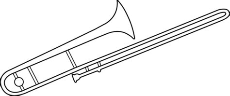 trombone colouring pages