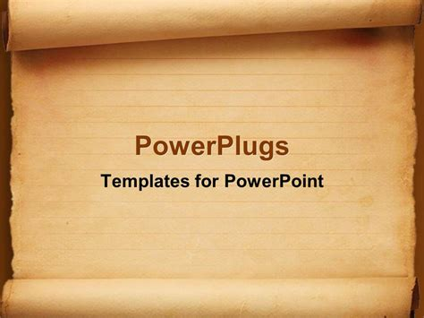 powerpoint template old fashioned worn down red scroll