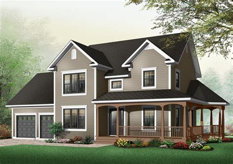 two story farmhouse derosa two story farmhouse plan 032d 0502 house plans and more