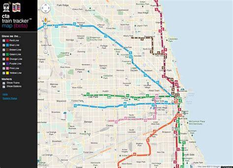 chicago map subway chicago transit map my