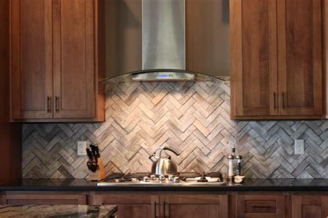 wood look tile backsplash wood look herringbone backsplash for the home