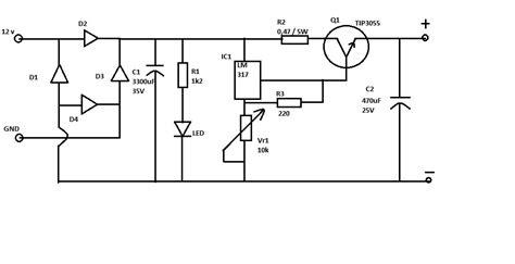 rangkaian dan layout running led smk pgri 3 malang elektronika rangkaian dan layout power