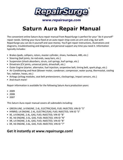 auto repair manual online 2007 saturn aura parental controls saturn aura repair manual 2007 2009 by malone sha issuu