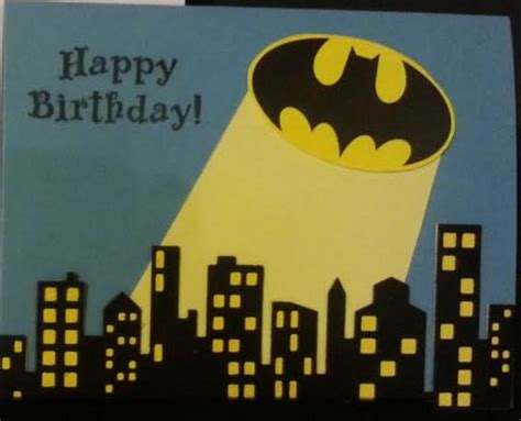 Batman Birthday Card Batman Birthday Card By Lgartcardsncreations On Etsy My