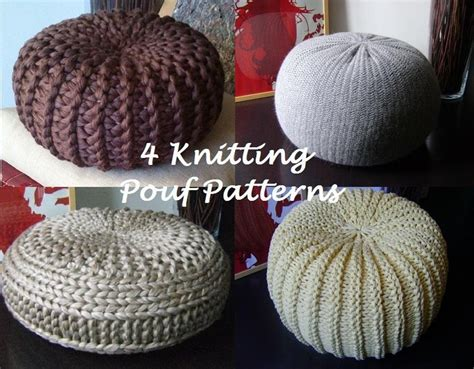knitted pouf pattern free 4 knitted pouf floor cushion patterns tutorials pouffe