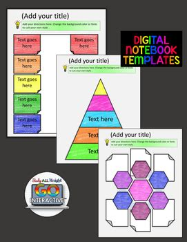 Digital Notebook Templates For Paperless Classrooms And Google Drive Digital Interactive Notebook Templates