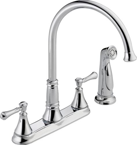 delta kitchen faucet warranty delta 2497lf chrome cassidy kitchen faucet with side spray includes lifetime warranty