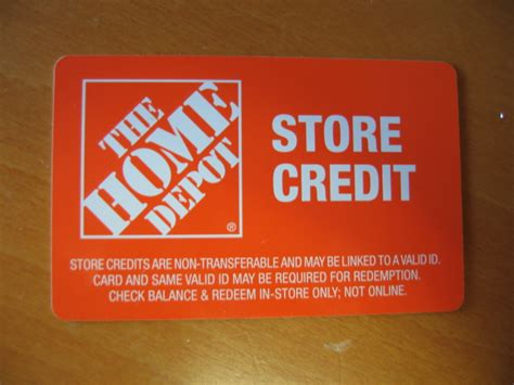home depot store credit 30 11 value free shipping ebay
