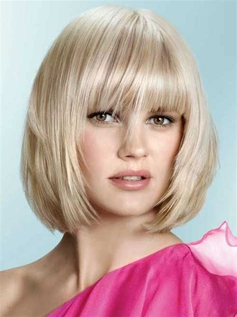 Bob Cuts For Round Faces Short Hairstyles 2016 2017