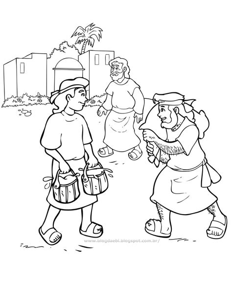 coloring page jacob and esau free coloring pages of esau bible story