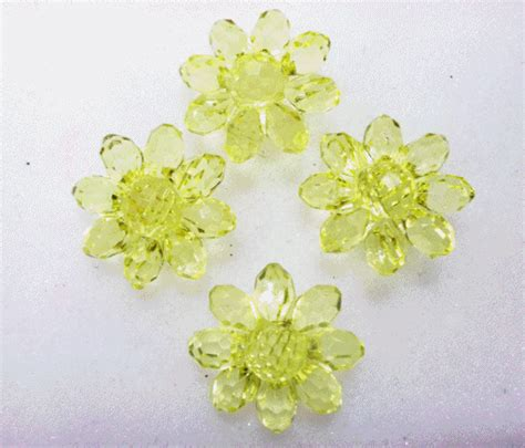 Anting Clay Flower akrilik bung jumbo accessories surabaya