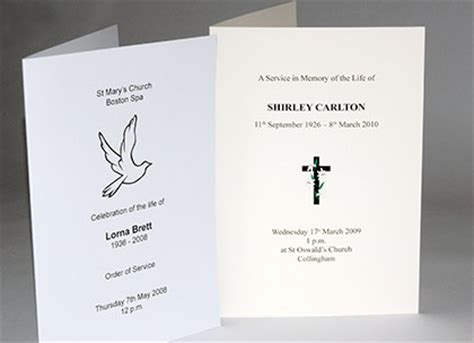funeral order of service template free uk design templates funeral funeral stationery template