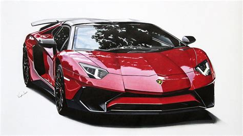 Lamborghini Drawing by Lamborghini Aventador Sv Roadster Drawing Youtube