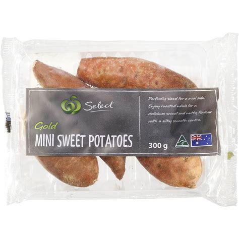 Mini Sweet I Gold sweet potato mini gold prepacked 300g woolworths