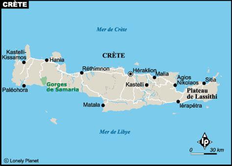 plan crete carte des sites incontournables lonely planet