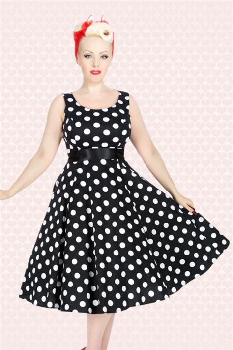 Bolero Swing by 50s Polkadot Bolero Swing Dress In Black And White